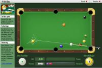 Screenshot 9-Ball Solo - GameDuell